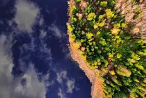 Zbor lac smarald front