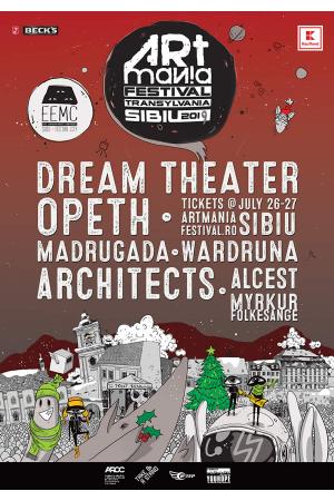 Art mania 2019 sibiu dream theater opeth afis