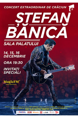 Concert stefan banica craciun 2018 afis