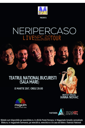 NERIPERCASO bilete concert bucuresti 2017