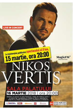 Nikos vertis 15 16 martie sala palatului