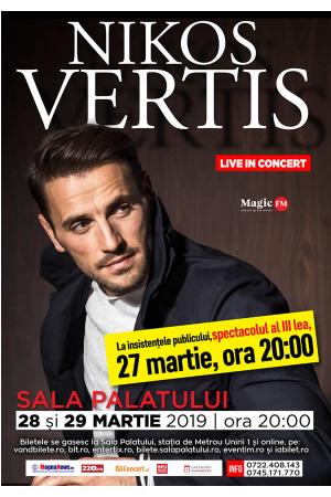 Nikos vertis concert martie afis