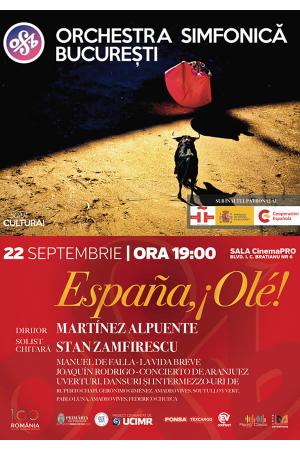 Ole espana orchestra simfonica bucuresti afis