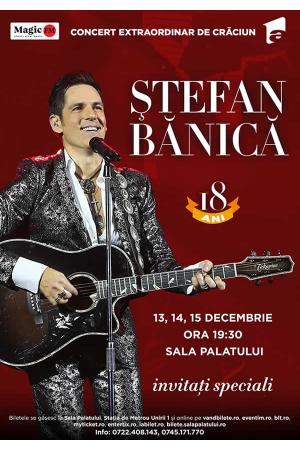 Stefan banica concert craciun 2019 afis