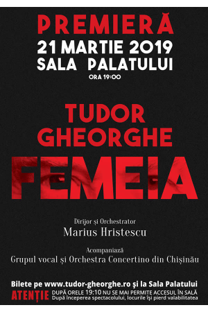 Tudor gheorghe femeia 2019 afis2