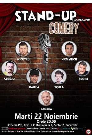 Stand up comedy cinema pro badea bordea micutzu bilete