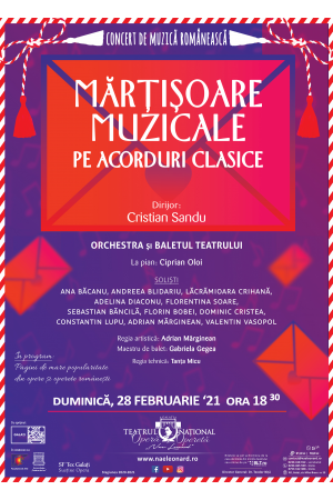 Afis Mărțișoare muzicale pe acorduri clasice promo