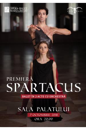 Spartacus balet bucuresti afis