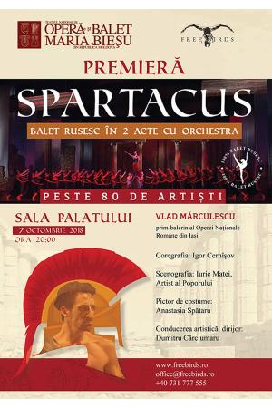 Spartacus balet rusesc sala palatului afis