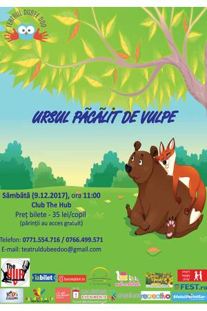 Ursul pacalit de vulpe teatru copii dubee doo 2017