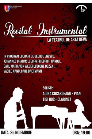 Recital instrumental deva afis