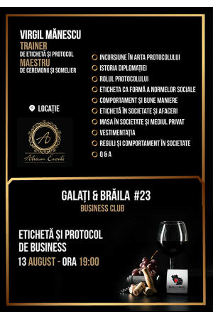 Galati braila business club 23 afis