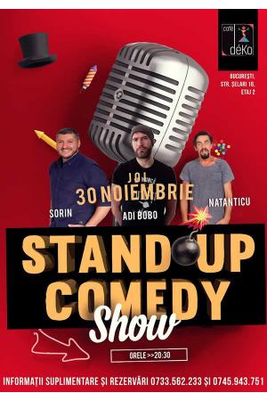 Standup comedy cosmin natanticu adi bobo sorin afis