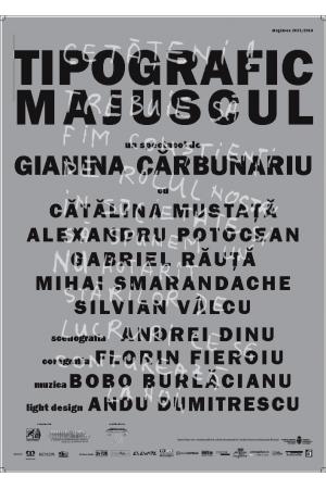 Tipografic majuscul afis