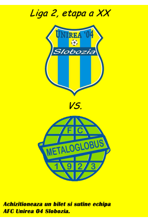 Afis unirea 04 metaloglobus